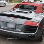 Rencontre d'une belle Audi R8 par un beau matin d'automne