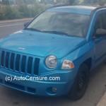 Rencontres inattendues: un Jeep Compass bleu