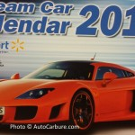Dream car calendar 2015 en vente chez Walmart