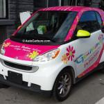 Spotted véhicules commerciaux: la SMART fait un excellent véhicule publicitaire