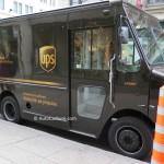 Spotted le camion au propane de UPS