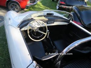 Intérieur de la Porsche
