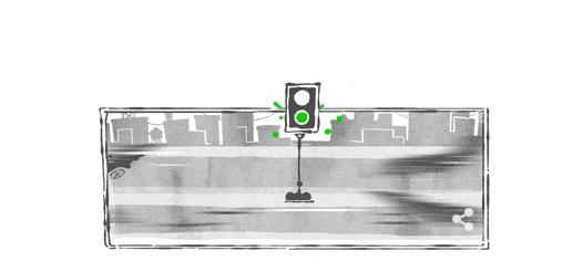 doodle premier feu de signalisation électrique