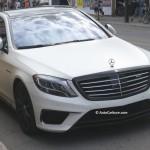 Rencontre inattendue d'un Mercedes AMG S 63