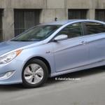Rencontre inattendue d'une Hyundai Sonata hybride