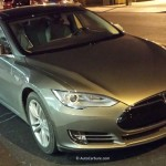 Rencontre inattendue d'une Tesla à Shawinigan