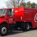 La boisson réconfortante du camion Coca-Cola