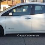 Rencontre inattendue d'une Nissan Leaf toute blanche