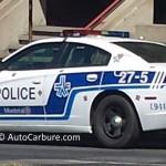 Rencontre inattendue d'une voiture de patrouille toute propre à Montréal