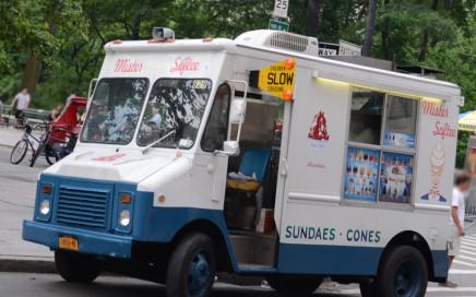 spotted camion de crème glacée à New York
