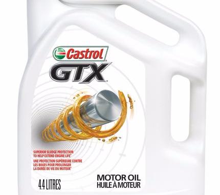 Huile conventionnelle Castrol GTX format 4,4 litres