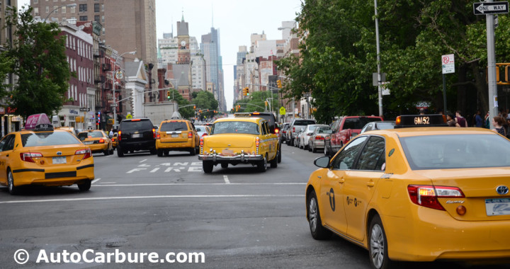New York taxis couleur jaune