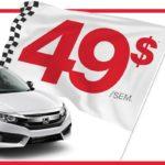 Événement formule gagnante Honda Civic DX 2016