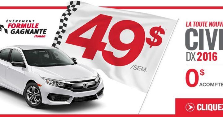 L'évémement formule gagnante Honda