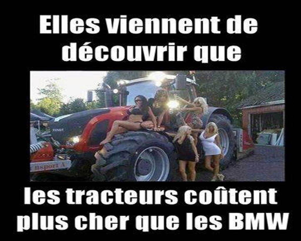 Des femmes découvrent que les tracteurs se vendent plus chers que les BMW