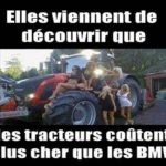 Elles viennent de découvrir que les tracteurs coûtent plus chers que les BMW