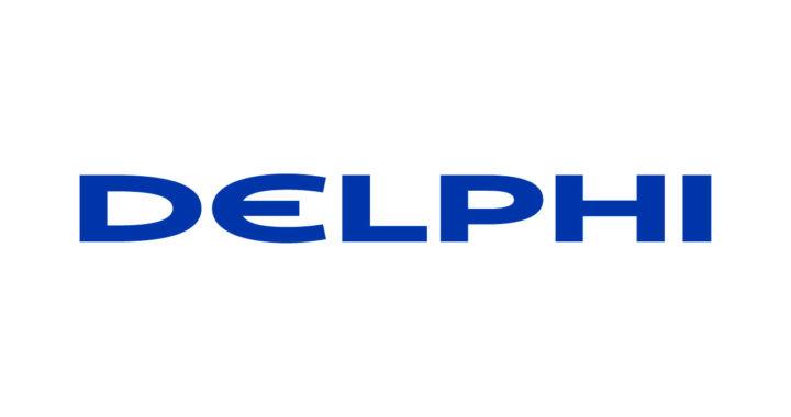 Logo de l'entreprise Delphi Automotive qui travaille sur le taxi sans chauffeur
