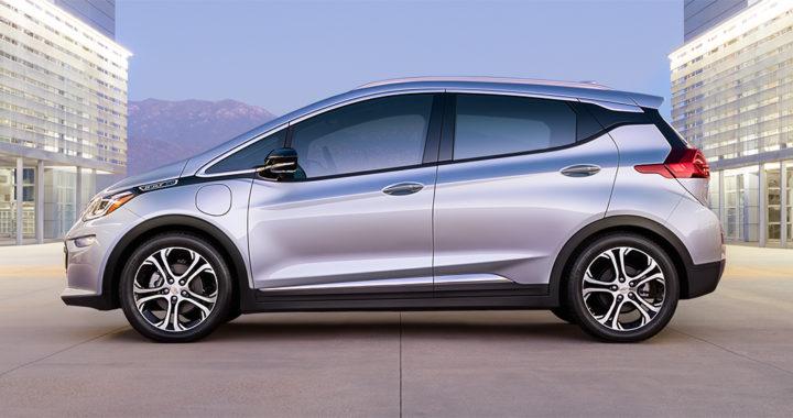 2017 Chevrolet Bolt EV dotée d'une autonomie de 383 kilomètres