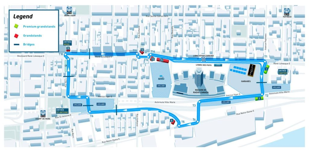 Tracé de l'événement FIA Formule E 2017 à Montréal