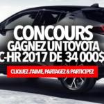 Gagnez un 2017 Toyota C-HR de 34 000$!