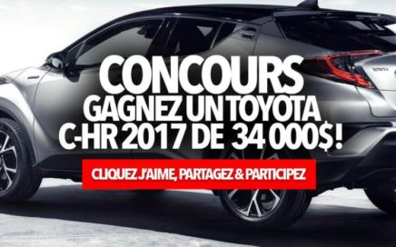 Concours pour ganger un 2017 Toyota C-HR