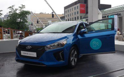 Hyundai Ioniq Electrique Place des Festivals à Montréal