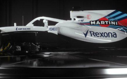 Photo tirée du site web de Williams Martini Racing. Voiture de Lance Stroll qui aura comme coéquipier en 2018 Sergey Sirotkin