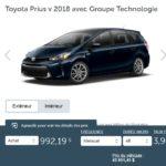 2018 Toyota Prius v avec Groupe Technologie à 992$ par mois