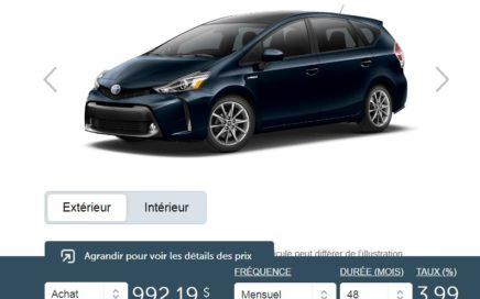 2018 Toyota Prius V groupe technologie