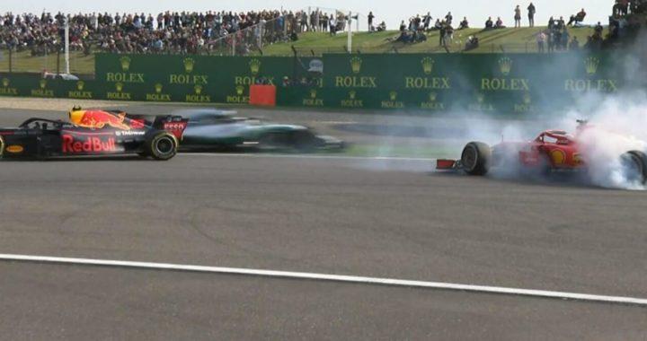 """Max """"Worsthappen"""" Verstappen qui vient d'entrer en collision avec Sebastian Vettel"""