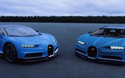 une Bugatti Chiron grandeur nature