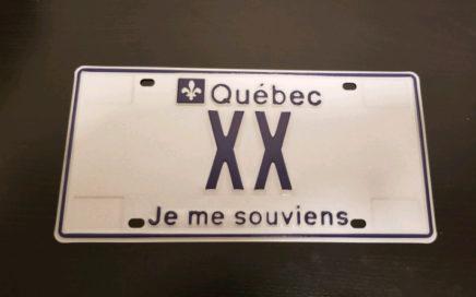 Revente de plaque personnalisée au Québec