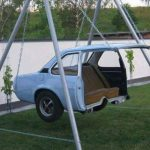 Idée de balançoire pour amants de l'automobile